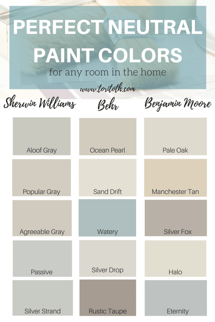 Neutral Paint Color Ideas For Walls Aloof Gray Sherwin Williams Por Agreeable Pive